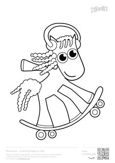 """""""Skatebording pony"""" #memollow to print #coloring pages for #kids printables"""