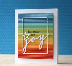 Jumping For Joy Card by Laura Bassen for Papertrey Ink (September 2014)