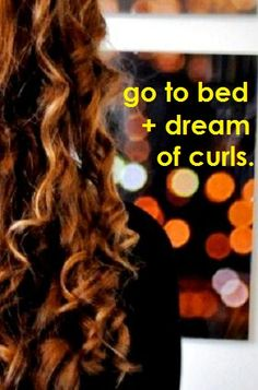curly hair overnight tutorial