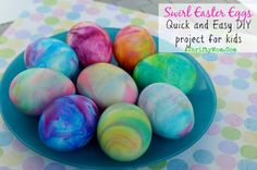cream swirl, dye egg, egg crafts, easter crafts, easter eggs, kid