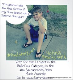 Please vote for me in the Sammies, my first ever nomination! Ava Lemert in **R Soul** http://www.sammies.com voting is now open through Oct. 6th, 2012