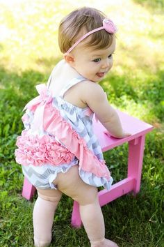Baby Girls Summer Outfit // Girls Ruffle Butt by AdalynsBoutique, $18.99  http://www.etsy.com/shop/adalynsboutique