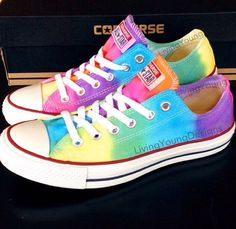 TIE DYE CONVERSE Colorful Custom Tie Dye by LivingYoungDesigns, $85.00
