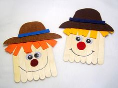 craft stick scarecrows - Re-pinned by @PediaStaff – Please Visit http://ht.ly/63sNt for all our pediatric therapy pins