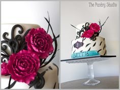 A Chic Hot Pink and Black Sweet 16 Zebra Print Birthday Cake by The Pastry Studio:Daytona Beach,Fl