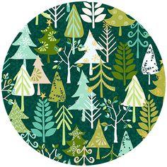 Henley Studio, Cool Yule, Trees Dark Green