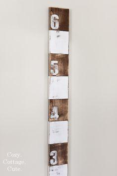 DIY wooden growth chart.