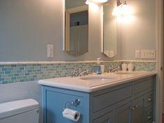 Bathroom Tile Design Ideas with modwalls glass mosaic tiles, glass subway tiles, tile blends, porcelain tiles and pebble tiles