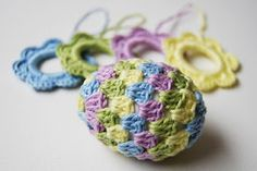 Granny Easter egg made by Real Studio   free crochet pattern