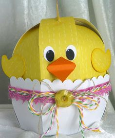 Cricut FANatics crafting is our passion: Easter Chick with Sweet Tooth Boxes