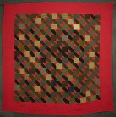 Straight Furrows Quilt: Circa 1900; Pennsylvania