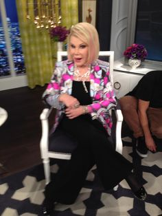 What Joan Rivers wore on April 13. BLAZER: Roberto Cavalli  JEWELRY: Cezua
