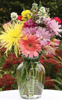 In Loving Memory Vase from Wedding Favors Unlimited