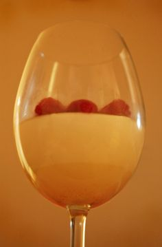 Mastic Greek Yogurt Panna Cotta with a Sour Cherry Sauce