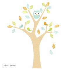 owl wall sticker for nursery