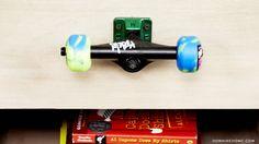 10 Skateboard-inspired spaces with major cool factor // Skateboard wheel drawer-knob #decor