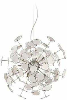 Orion Chrome with White Acrylic Halogen Pendant Light @EuroStyleLighting