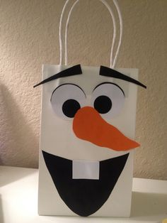 Snowman Party Favor Bag