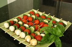 caprese salad skewers - great idea for an appetizer or pot luck!.