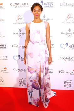 Zoe Saldana in Nina Ricci at the Global Gift Gala.