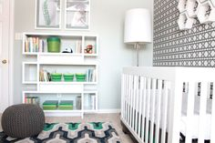 How fab is this bookcase? #nursery #modern