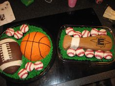 Sports Ball Theme Birthday Cake