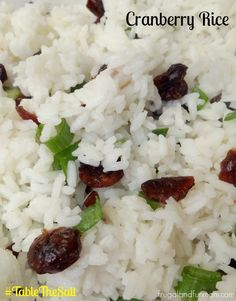 cranberri rice, rice recip, salt, lemon