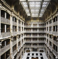 libraries, irons, balconies, georg peabodi, peabodi librari, baltimore, maryland, place, new books