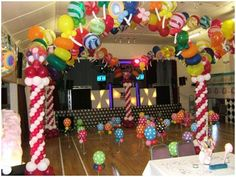birthday parti, dance floors, candi land, candies, balloon, parti idea, candyland decor, candy land, themed parties