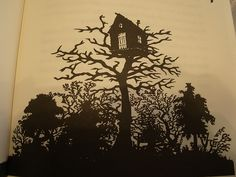 house for Wendy illustrated silhouette by Scott M. Fischer.