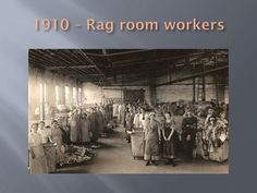 Workers in the rag room, Lee Paper Company, Vicksburg, Michigan ca. 1910.  Vicksburg Historical Society collection