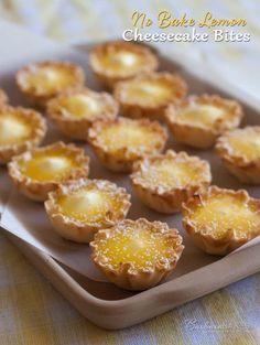 No Bake Lemon Cheesecake Bites - @Barbara Acosta Acosta Acosta Acosta Schieving {Barbara Bakes}