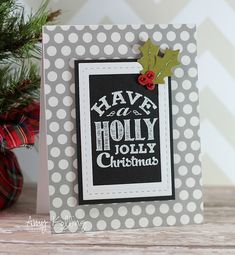 HollyJolly by kolling143, via Flickr. White frame on top of the black mat. Love the polka dots!