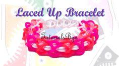 Laced Up Rainbow Loom Bracelet Tutorial