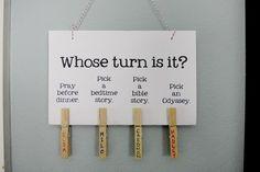 clothespin chore chart!