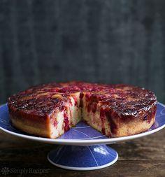christmas dinners, sweet treat, christmas desserts, dessert recip, cranberri upsid, cake desserts, upside down cakes, cranberries, cake recipes