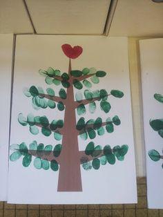 Fingerprint Tree - Could make a fingerprint start at the top and add finger print coloured lights, too!