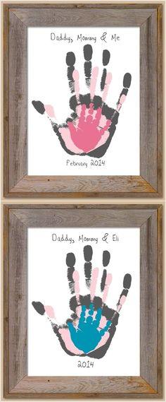 craft, mothers day, famili handprint, handprint art, hand prints