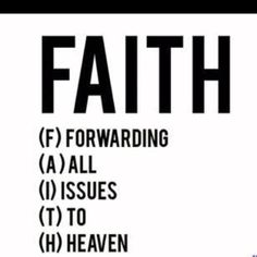 forwarding all issues to heaven