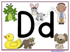 Letter Dd Learning Pack from Homeschoolin Mama on TeachersNotebook.com -  (25 pages)  - A fun way to teach the letter Dd to your littles!  Color, Paste and Cut your way through the alphabet!