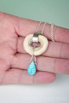 Jujubysarah beautiful faux bone pendant
