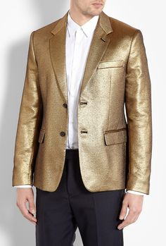 Gold Veruschka Lame Blazer by Marc by Marc Jacobs