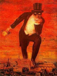 art, return, le retour, rené magritt, rene magritte, retour de, paintings, 1943, flame