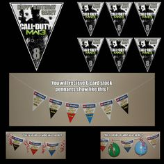 CALL OF DUTY MW3 TRIANGLE PENNANTS