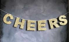 glittered cheers holiday banner