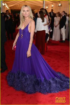 Gorgeous Prada gown on Diane Kruger at the Met Ball 2012