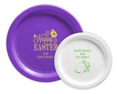 Personalized Paper Plates for Easter