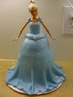 Cinderella/Barbie cake tutorial