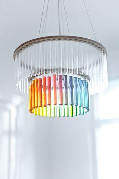 Test tube chandeliers