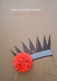 birthday crown diy with template via CREATE LIKE CRAZY